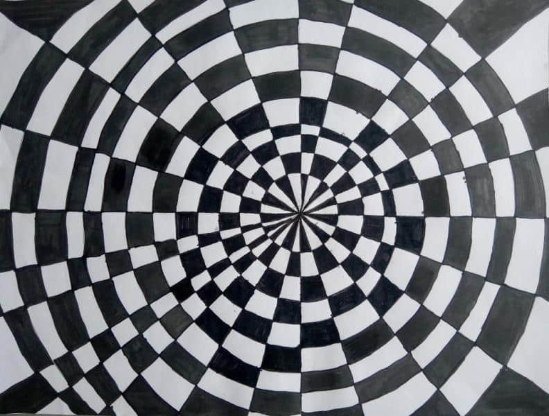 Optik Sanat Op Art Calismalari